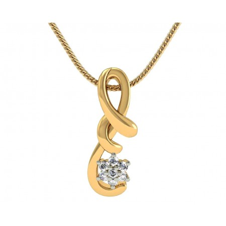 Brilliant Knot Diamond Pendant
