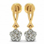 Diamond Floral Drop Earrings