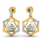 Spider Web Diamond Earrings