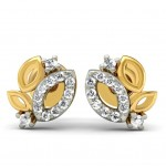 Rhea Diamond Leaf Studs