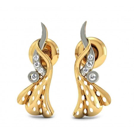 Bezal pierced diamond earring