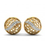 Tennis Ball Muddy Diamond Studs