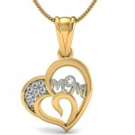 MOM Heart Diamond Pendant