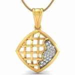 Criss Cross Diamond Pendant