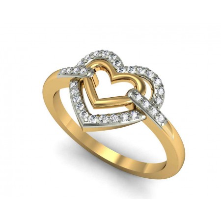 Connected Heart Ring
