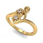 Multitone Flower Diamond Ring