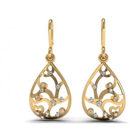 Bella Drop Diamond Earring