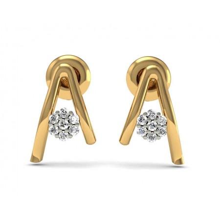 Alphabet Diamond Stud
