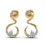 Diamond Curls Earring