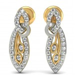 Duo Leaf Diamond Earring