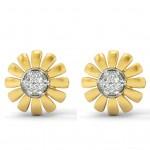 Sunflower Diamond Earring