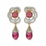 Devika Floral Drop Earring
