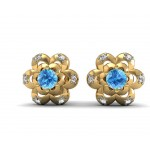 Gem Floral Stud Earrings