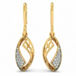 Diamond Shell Drop Earrings