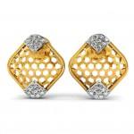 Honeycomb Diamond Stud