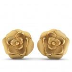 Rosa Muddy Gold Studs