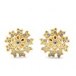 Snowflake Gold Stud Earring