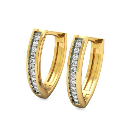 Saachi Diamond Hoops
