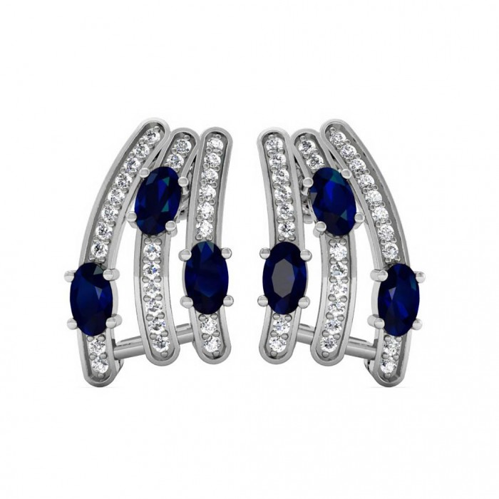Wedding Gift For 5000 Rs : Gemstone: Blue SapphireGold Color: White