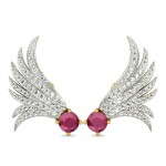 Peacock-Feather Studs Earring