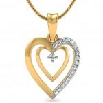 Duo Heart Diamond Pendant
