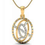 Tri Oval Diamond Pendant