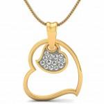 Hanging Diamond Heart Pendant