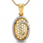 Pleasing Oval Star Pendant