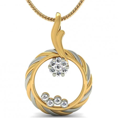 Alluring Circle Diamond Pendant