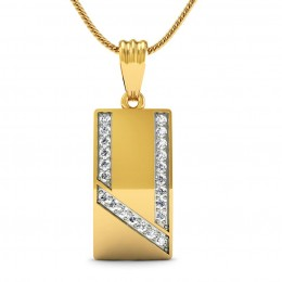 Rectangular Mens Pendant