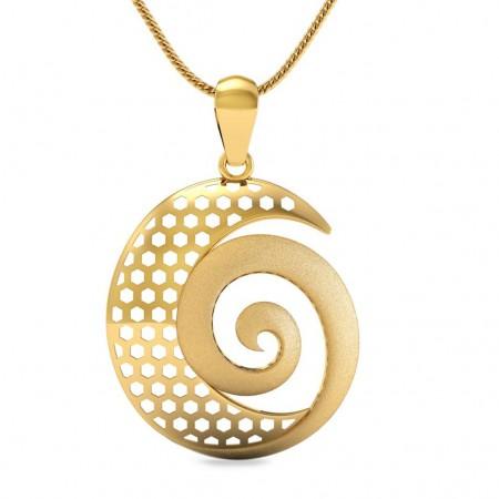 Spiral Gold pendant
