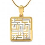 Maze Gold Pendant
