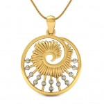 Snail Shell Gold Pendant