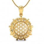Wheel Feel Gold Pendant
