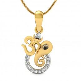 Om Gajanan Diamond Pendant