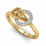 Circular Bead Diamond Ring