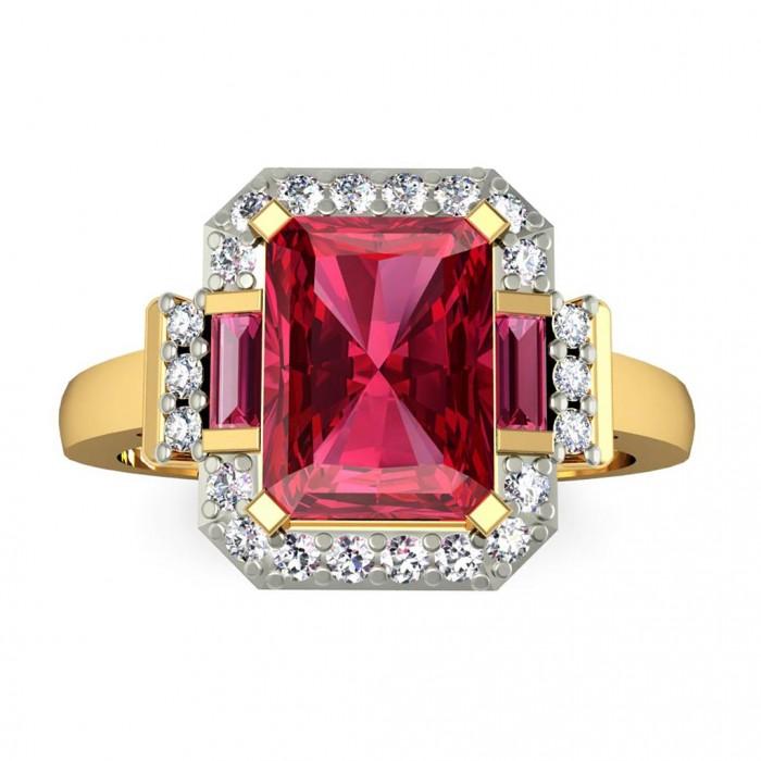 Gemstone: RhodoliteGold Color: Yellow