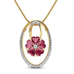 Heart Flora Oval Pendant